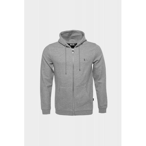Q Series Straight Zipped Hoodie Men Heather
