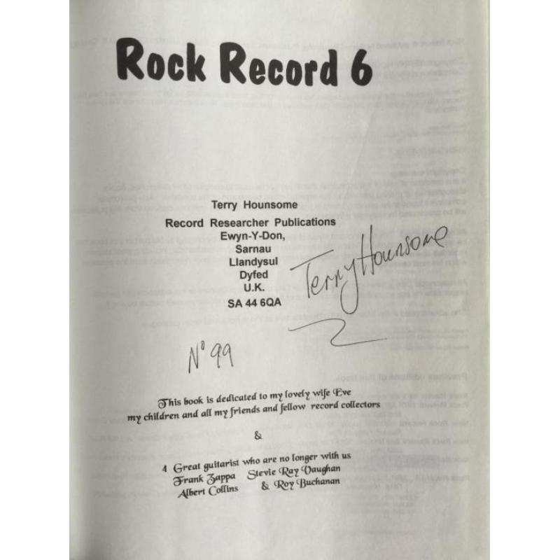 Rock Record 6 Album File Directory of Rock Albums and musici