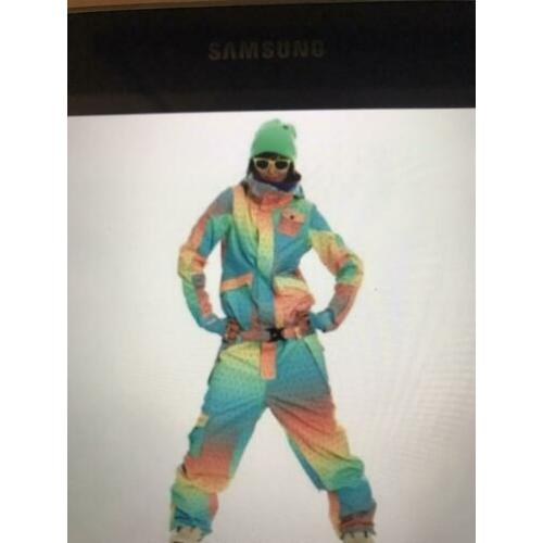 O'Neill multi colour snowboard loose fit jumpsuit maat m