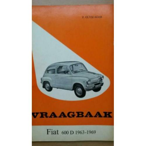 Vraagbaak Fiat 600 D Multipla 1963-1969 P. Olyslager Kluwer