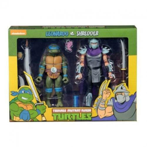 Teenage Mutant Ninja Turtles AF 2-Pack Leonardo vs Shredder