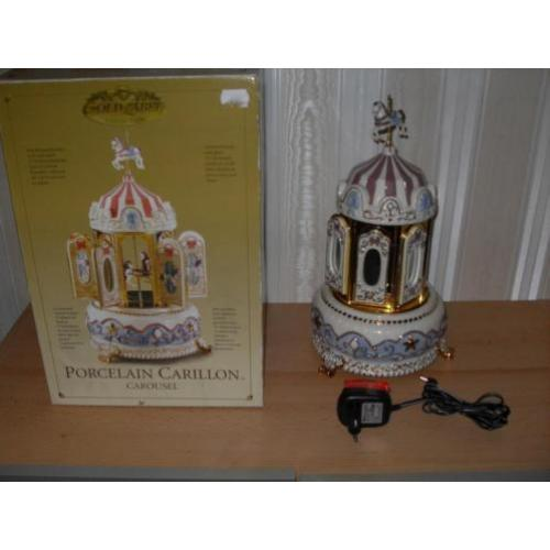 nieuw in doos Mr Christmas Porcelain Carillon Carousel